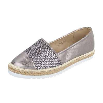 Espadrilles für Damen in Silber