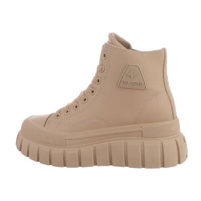 Sneakers High für Damen in Hellbraun