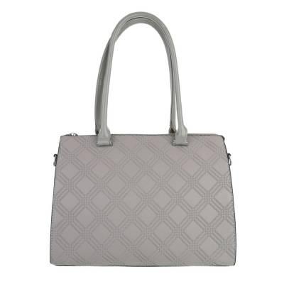 Schultertasche für Damen in Grau