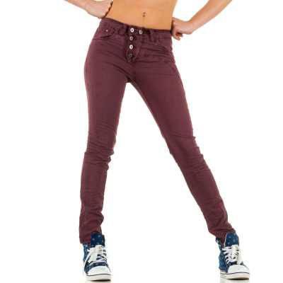 Skinny Jeans für Damen in Rot
