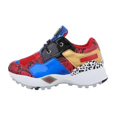 Sneakers low für Damen in Rot und Blau