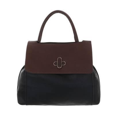 Mittelgroße Damen Tasche Schwarz Braun