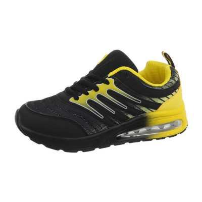 Sneakers low für Damen in Schwarz und Gelb