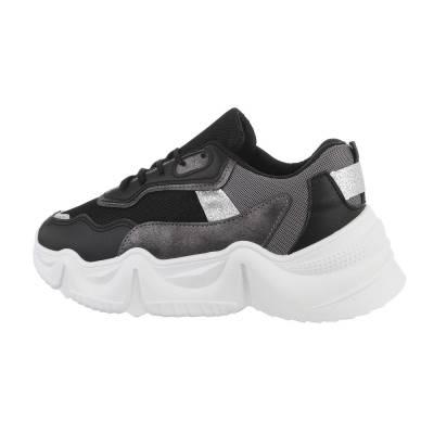 Sneakers low für Damen in Schwarz und Weiß