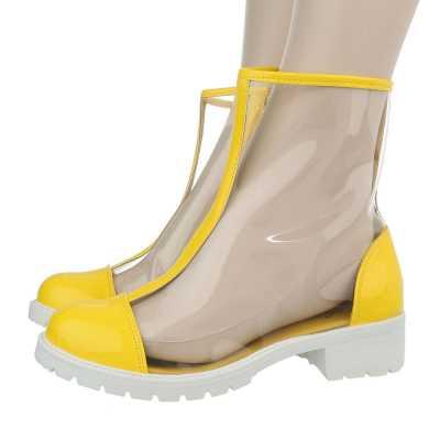 Klassische Stiefeletten für Damen in Gelb