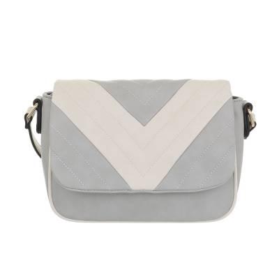 Kleine Damen Tasche Grau Beige