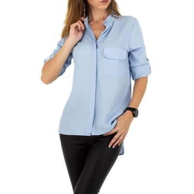 Hemdbluse für Damen in Blau