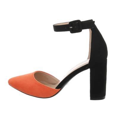 Schnür- & Riemchenpumps für Damen in Orange und Schwarz