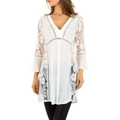 Longbluse für Damen in Weiß