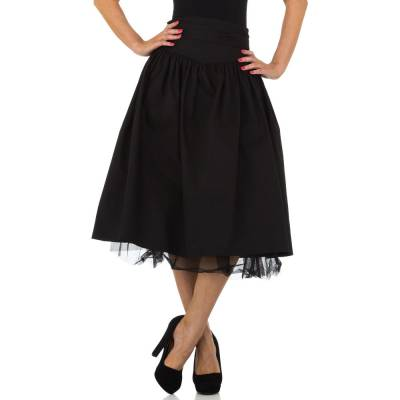 Midirock für Damen in Schwarz