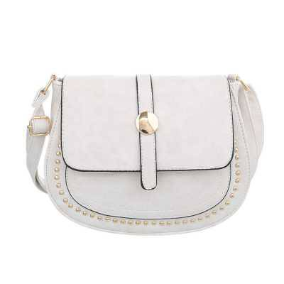 Kleine Damen Tasche Weiß Grau