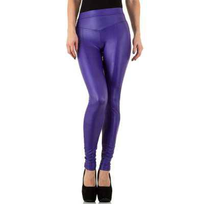Leggings in Lederoptik für Damen in Lila