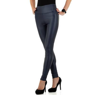 Leggings in Lederoptik für Damen in Blau
