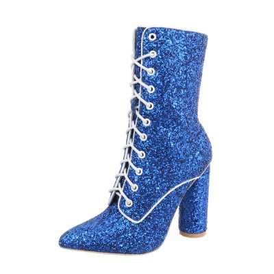 High Heel Stiefeletten für Damen in Blau