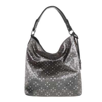 Große Damen Tasche Grau Silber