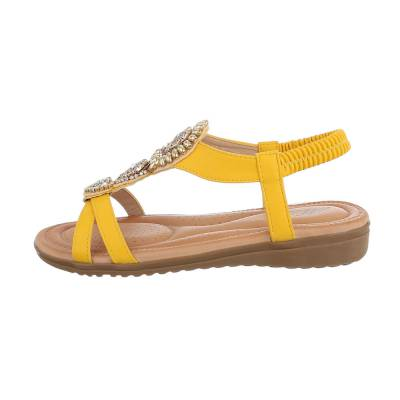 Riemchensandalen für Damen in Gelb