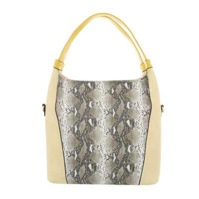 Mittelgroße Damen Tasche Gelb Multi