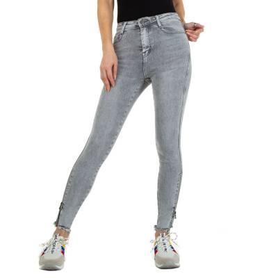 Skinny Jeans für Damen in Grau