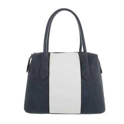 Mittelgroße Damen Tasche Blau Weiß