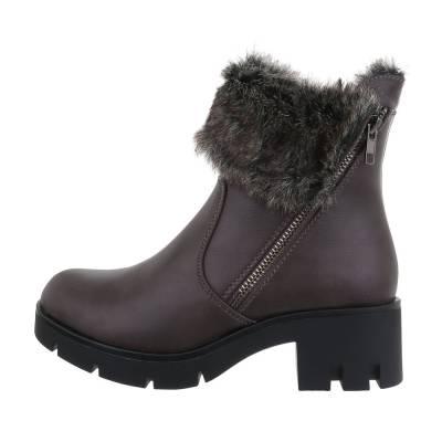 Klassische Stiefeletten für Damen in Grau und Braun