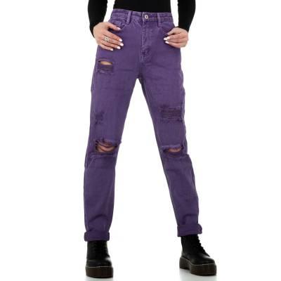 Boyfriend Jeans für Damen in Lila