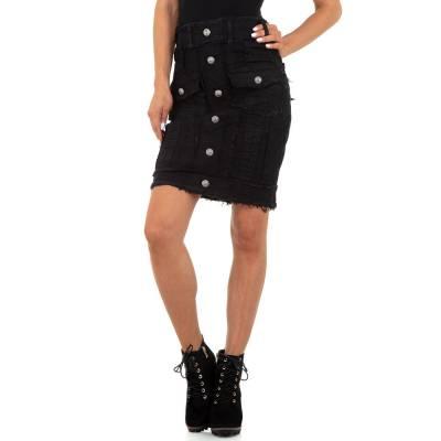 Jeansrock für Damen in Schwarz