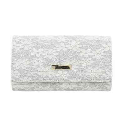 Portemonnaie Damen Geldbörse Weiß