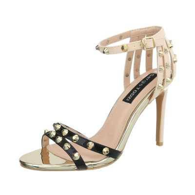 High Heel Sandaletten für Damen in Schwarz und Beige
