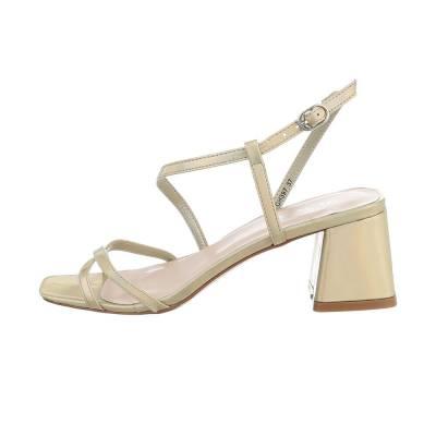 High Heel Sandaletten für Damen in Gold