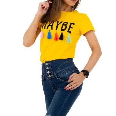 T-Shirt für Damen in Gelb
