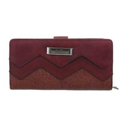 Portemonnaie Damen Geldbörse Weinrot
