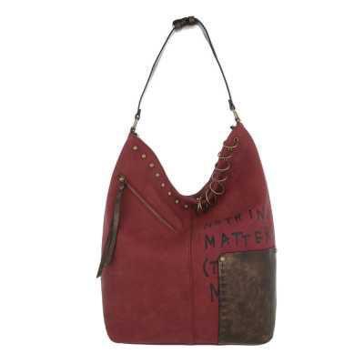 Mittelgroße Damen Tasche Weinrot