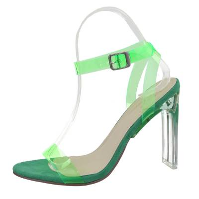 High Heel Sandaletten für Damen in Grün