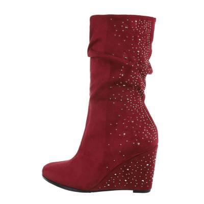 Keilstiefel für Damen in Rot
