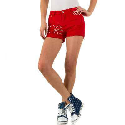 Hotpants für Damen in Rot