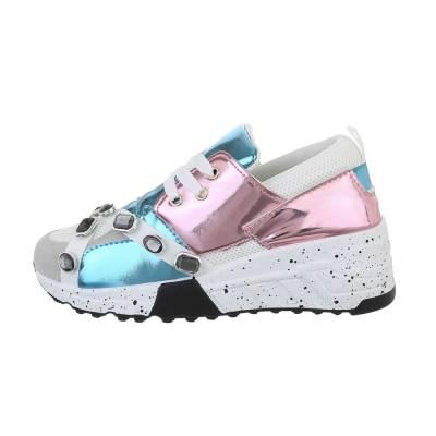 Sneakers low für Damen in Blau und Rosa