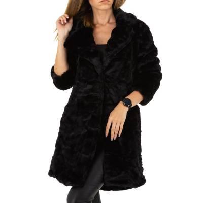 Kurzmantel für Damen in Schwarz