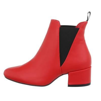 Chelsea Boots für Damen in Rot und Schwarz