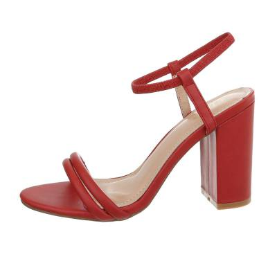 High Heel Sandaletten für Damen in Rot