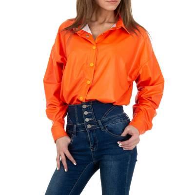 Hemdbluse für Damen in Orange