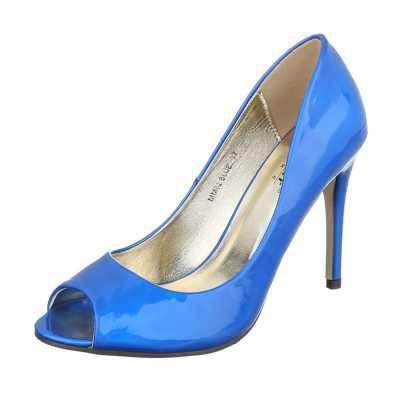 Peeptoes für Damen in Blau