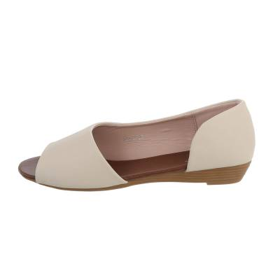 Peeptoes für Damen in Beige