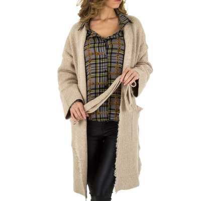 Strickjacke für Damen in Beige