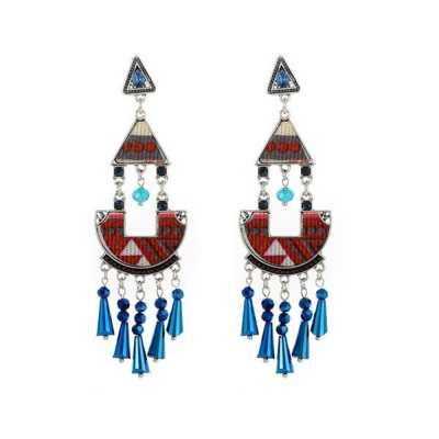 Ohrringe für Damen in Blau