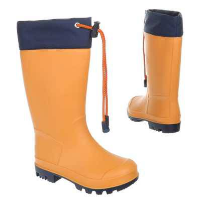 Unisex Kinder Gummi Stiefel Orange