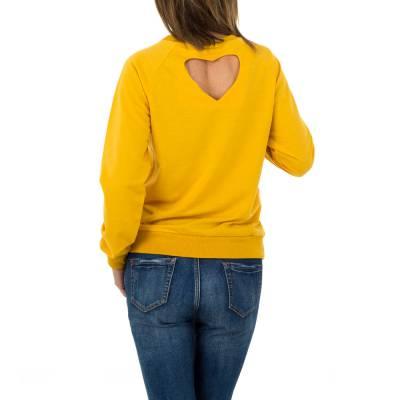 Langarmshirt für Damen in Gelb