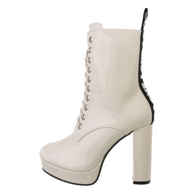 High Heel Stiefeletten für Damen in Beige