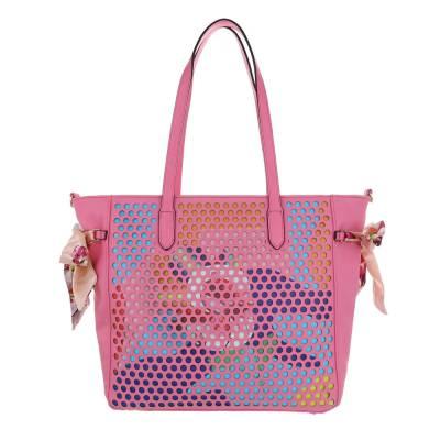 Mittelgroße Damen Tasche Pink Multi