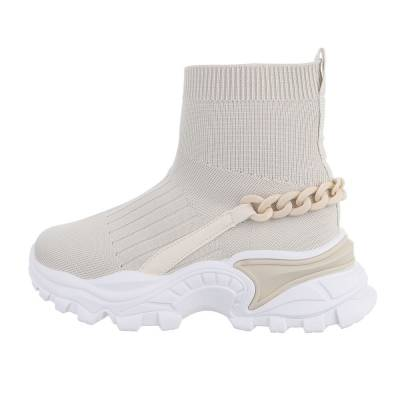 Sneakers High für Damen in Beige