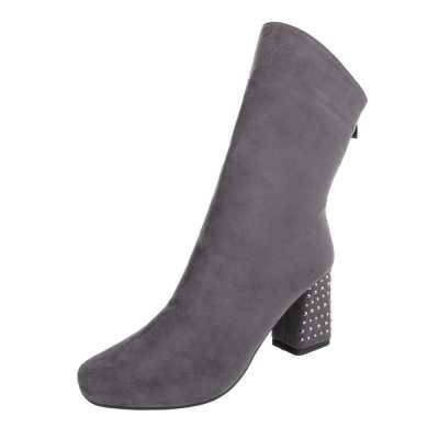 High Heel Stiefeletten für Damen in Grau